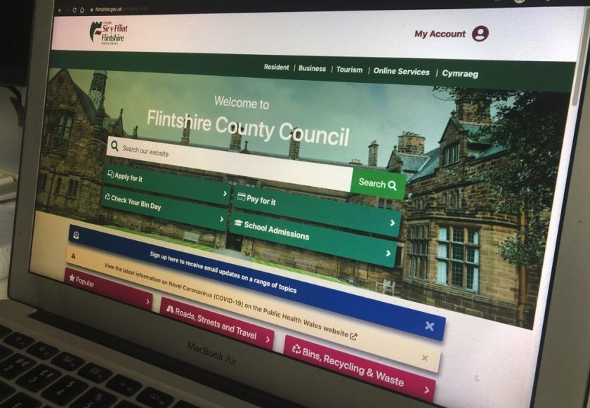 "Flintshire Council rolls out new look web site reflecting ""a clear and fashionable really feel"""