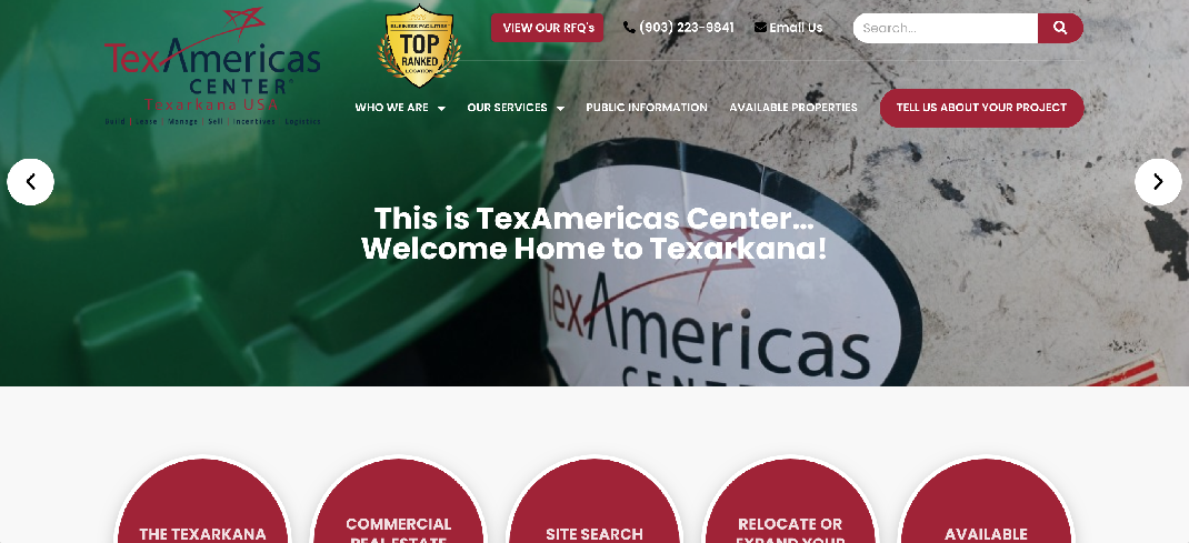 New TexAmericas web site gives detailed financial and group data to website selectors