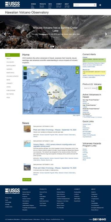 Volcano Watch: HVO's new website is more accessible and mobile-friendly