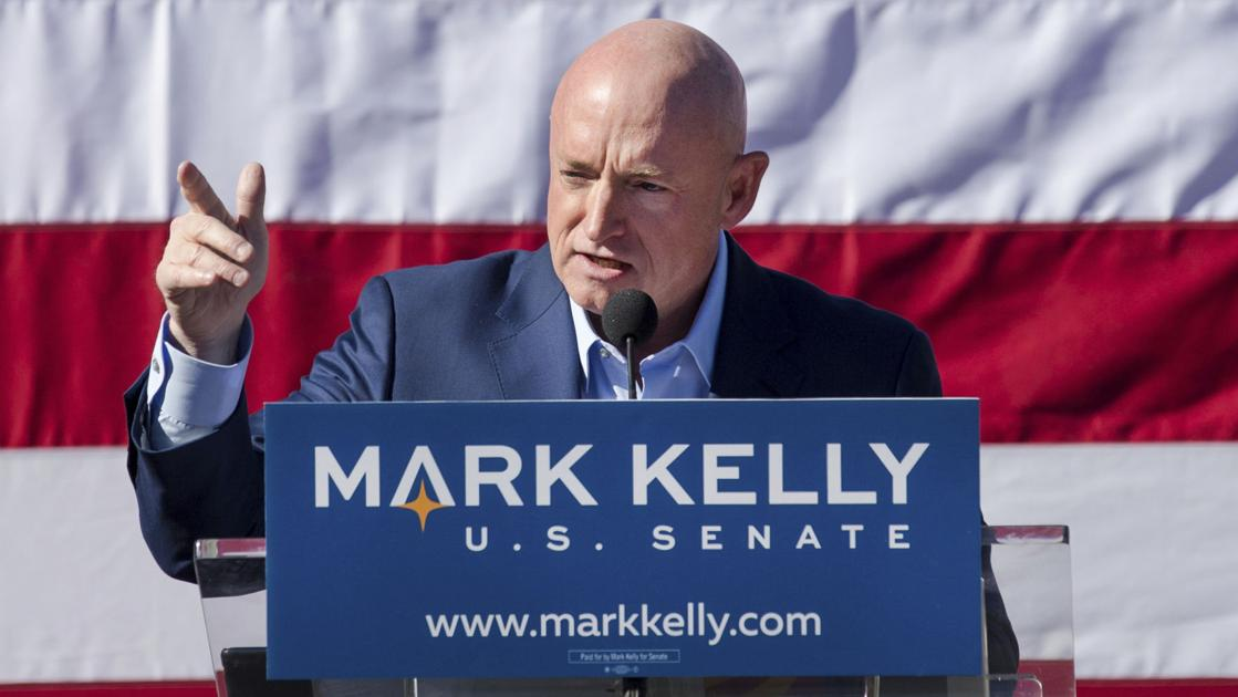 Mark Kelly files libel suit against conservative website's uncorroborated photo claim | Local news