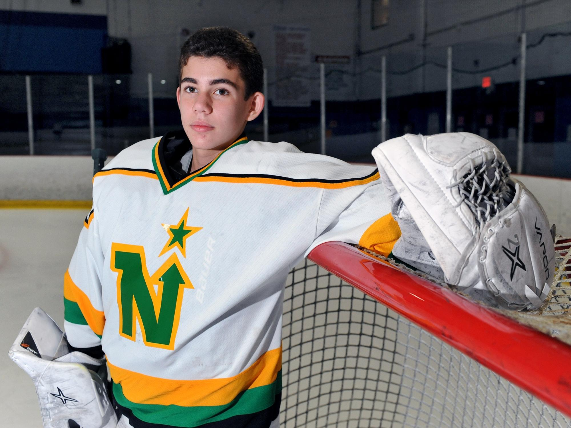 'Ando Saves:' Sudbury's Jesse Rich raises money by making stops as a hockey goalie to help children of late Lincoln-Sudbury athletic trainer – Sports – Milford Daily News