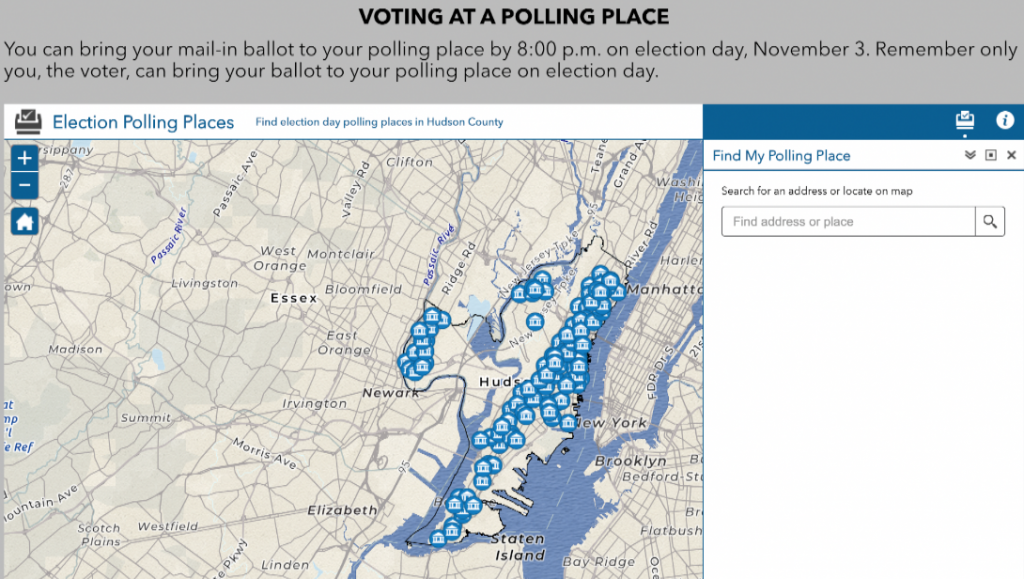 New website allows Hudson County voters to look up dropbox, polling locations