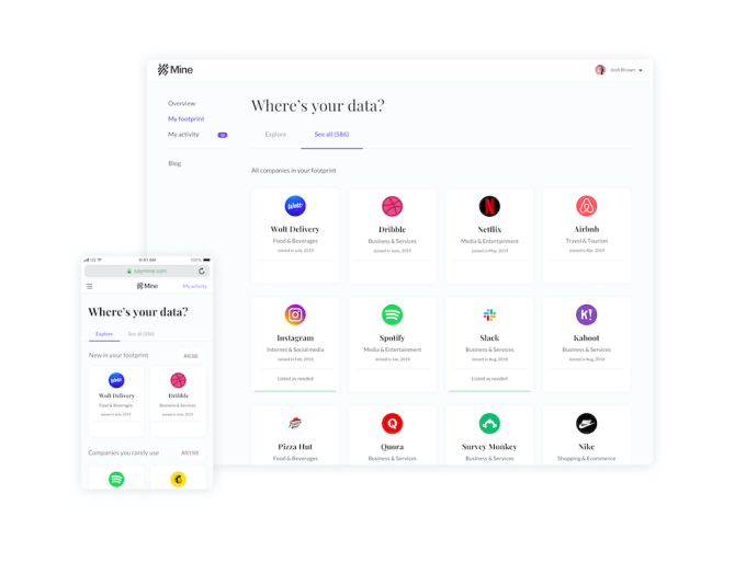 Mine raises $9.5M to help people take control of their personal data – TechCrunch