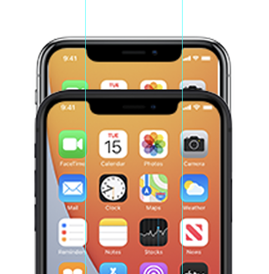 iPhone 12 icons appear on iCloud website showcasing narrower notch and more