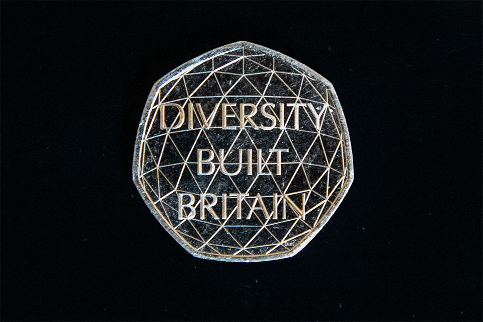 New 'Diversity Built Britain' coin unveiled