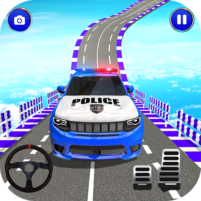 Police Spooky Jeep Stunt Game: Mega Ramp 3D 1.0 APK Cracked Downlaod – PRO for android