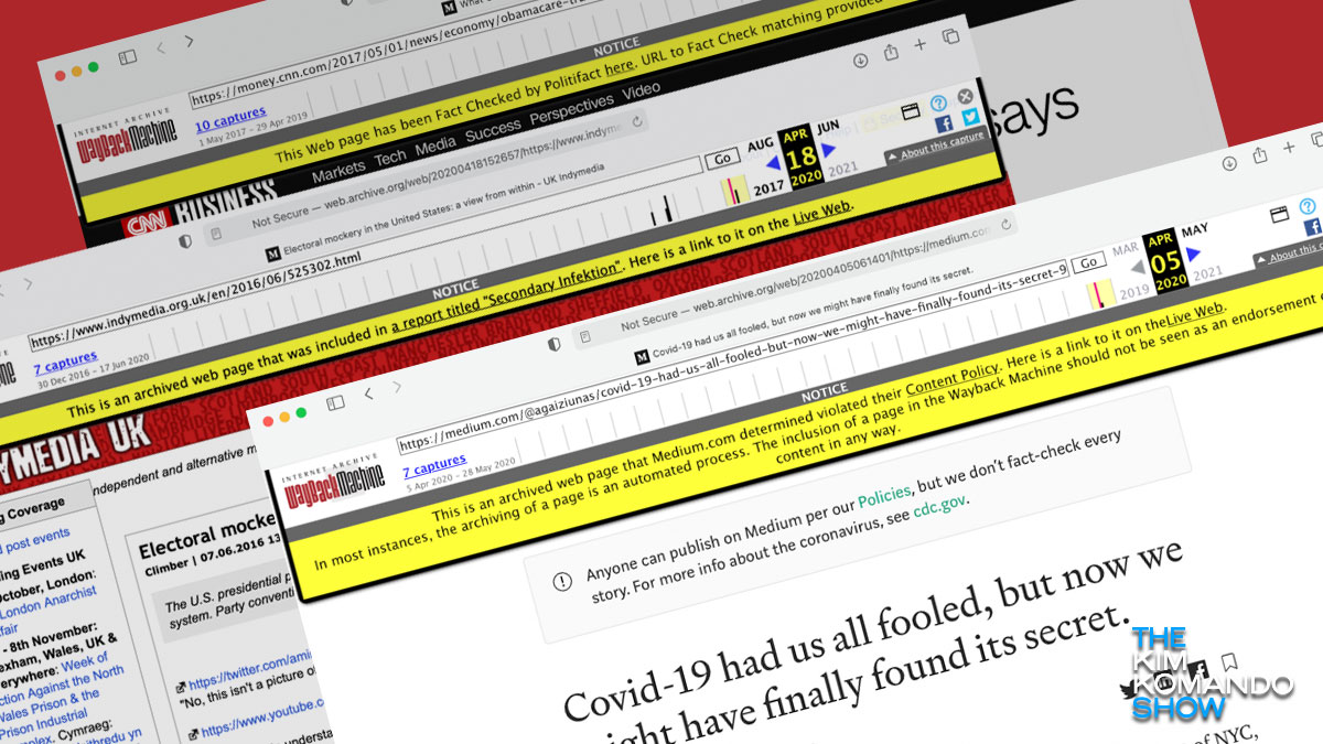 The Wayback Machine will now fact-check archived websites and articles