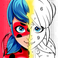 Miraculous Ladybug & Cat Noir. Color by number  1.1.2 APK Cracked Downlaod – PRO for android