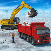Snow excavator & road construction games 2020 1.4 APK Cracked Downlaod – PRO for android