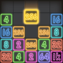 Drop Number : Neon 2048 1.0.5 APK Cracked Downlaod – PRO for android