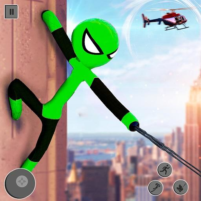 Flying Stickman Rope Hero: Flying Hero: Crime City 2.7 APK Cracked Downlaod – PRO for android